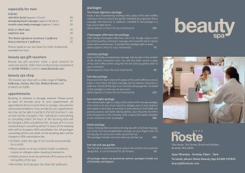 packages especially for men beauty spa gift vouchers ... - The Hoste