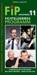 Fichtelgebirgs-Programm - November 2014