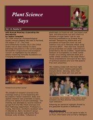 September 2009 - Department of Plant Sciences & Plant Pathology ...