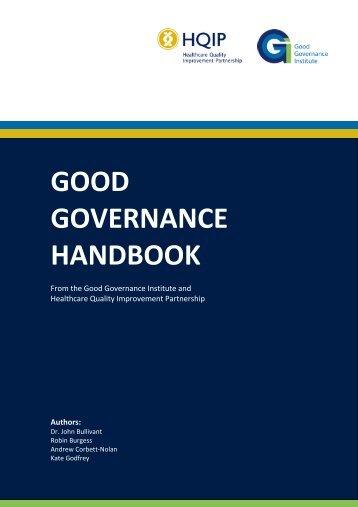 Good Governance Handbook - HQIP