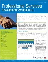 Development Architecture - Pixelmetrix