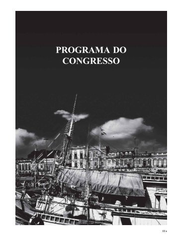 PROGRAMA DO CONGRESSO - Sociedade Brasileira de Cirurgia ...