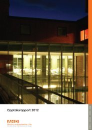 Opptaksrapport 2012