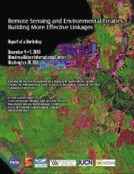 Remote Sensing and Environmental Treaties - Socioeconomic Data ...
