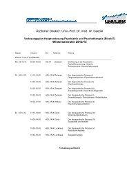 Prof. Dr. med. W. Gaebel Wintersemester 2012/13