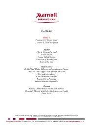 Fork Buffet Menu - Marriott International