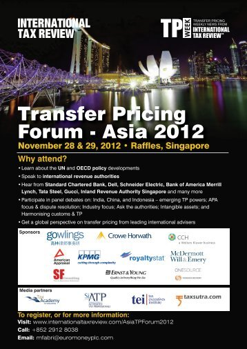 Transfer Pricing Forum - Asia 2012 - International Tax Review