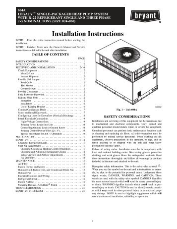 Installation Instructions - Alpine Home Air Products