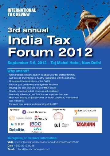 India Tax Forum_M&A 2003(SO) - International Tax Review