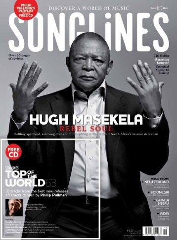 Hugh Masekela in Songlines Magazine - Womex
