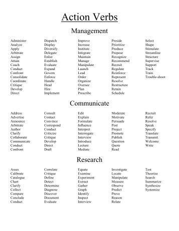 sle resume verbs wharton mba career management