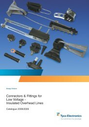 Connectors & Fittings for Low Voltage - Insulated Overhead Lines