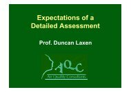 Expectations of a Detailed Assessment - IAPSC