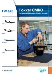 Fokker CMRO Component, Maintenance, Repair ... - Fokker Services