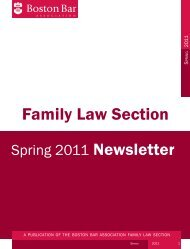 Family Law Section - Boston Bar Association
