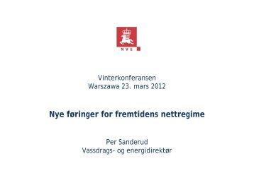 Nye føringer for fremtidens nettregime - Energi Norge