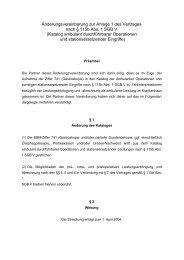 Aenderungsvereinbarung zum Katalog ambulanter Operationen und ...