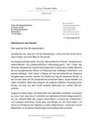 Offener Brief an Bundespräsident Christian Wulff - Kanzlei-sailer.de
