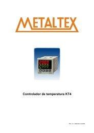 Controlador de temperatura KT4 - Metaltex