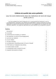 Critères de qualité, liste C - Palliative ch
