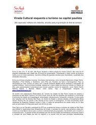 Virada Cultural esquenta o turismo na capital paulista