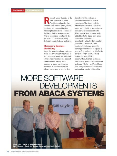 international paper board industry january 2012 - Abaca Systems