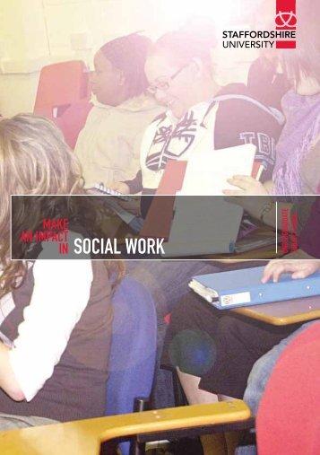 IN SOCIAL WORK - Staffordshire University