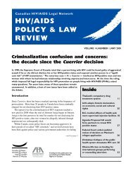 HIV/AIDS Policy & Law Review, Volume 14, Number 1 ... - CATIE