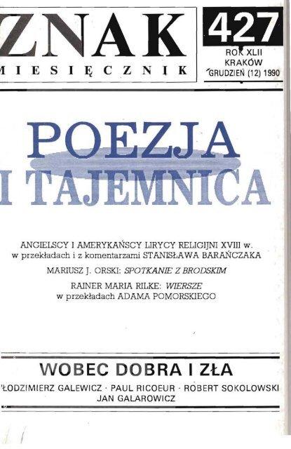 Nr 427 Grudzieå 1990 Znak