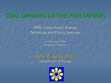 Ms Ruby B de Guzman - Expert Group on Clean Fossil Energy