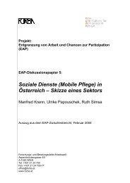 Soziale Dienste (Mobile Pflege) in Österreich - Skizze ... - FORBA