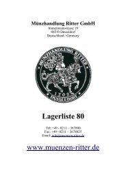 4.2 römisch-deutsches reich und gebiete - Münzhandlung Ritter GmbH
