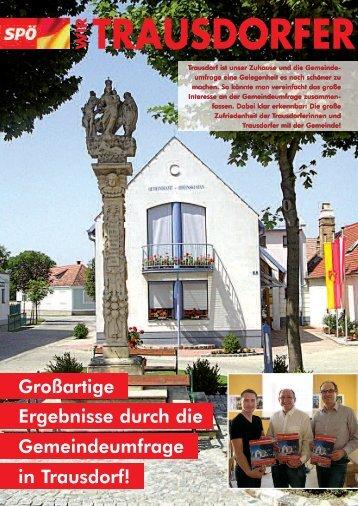 Wir Trausdorfer April 2012 - bei der SPÖ Trausdorf