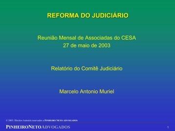 Apresentação da Reforma do Judiciário - 27.05.2003 - Cesa