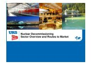 Nuclear Decommissioning Sector Overview and Routes to Market
