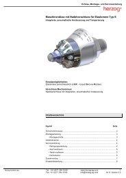 Maschinendüse mit Nadelverschluss für Elastomere ... - Herzog AG