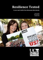 Resilience Tested - University of Canterbury