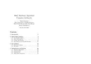 Mse: Hardware Algorithms Computer Arithmetic - microLab