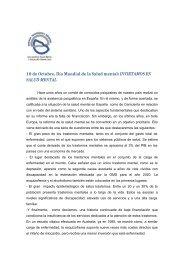 DiaMundial salud Mental - Asociación Española de Neuropsiquiatría