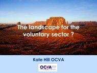 The landscape for the voluntary sector ? - OCVA