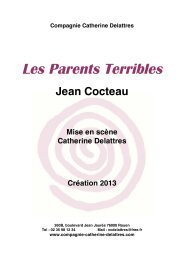 Dossier PDF (170Ko) : Les Parents Terribles de Jean Cocteau