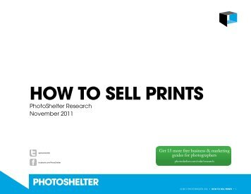 how to sell prints - PhotoShelter