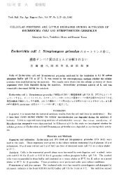 Escherichia coli 2 Streptomiyces griseolus 0 OLIVE 香川大学学術 ...