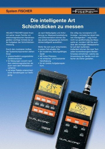 Die intelligente Art Schichtdicken zu messen - Fischer Technology, Inc.