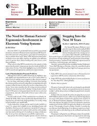 November 2007 - Human Factors and Ergonomics Society