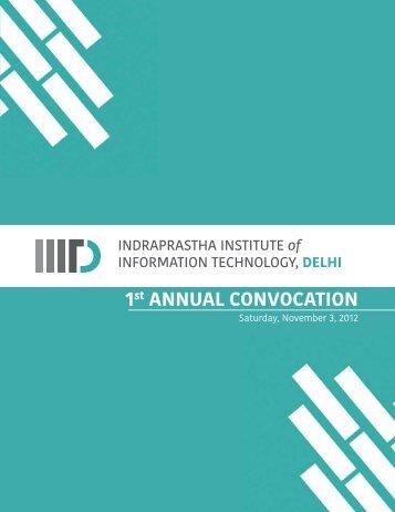 Convocation Brochure - IIIT-Delhi