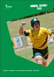2012 Annual Report - Softball Australia