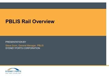 PBLIS Rail Overview - Sydney Ports
