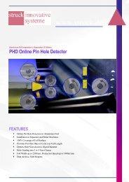 Pinhole Detection - Struck Innovative Systeme