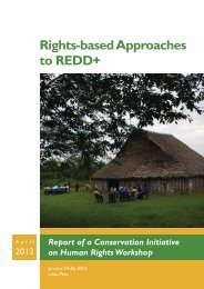 Rights-based Approaches to REDD+ - World Wildlife Fund
